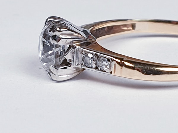 Art Deco Diamond and Gold Engagement Ring 3402  DBGEMS - image 2