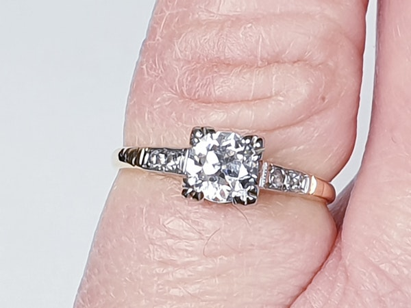 Art Deco Diamond and Gold Engagement Ring 3402  DBGEMS - image 4