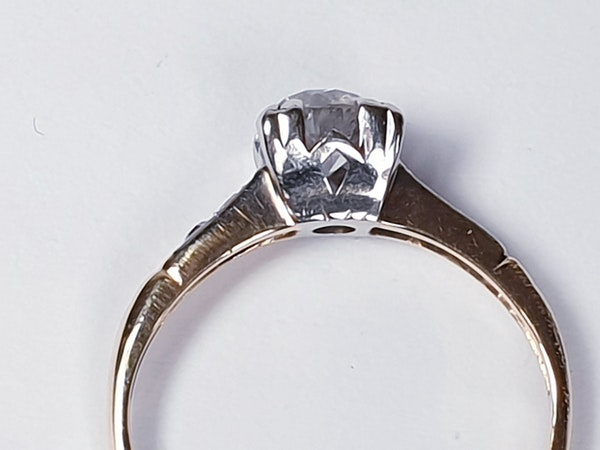 Art Deco Diamond and Gold Engagement Ring 3402  DBGEMS - image 5
