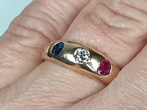 Antique gem set gypsy ring  DBGEMS - image 4