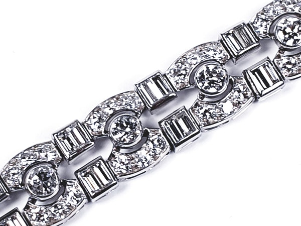 Art Deco diamond bracelet  DBGEMS - image 3
