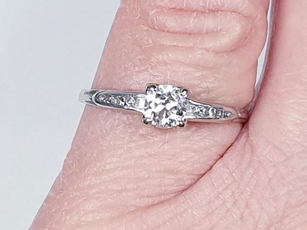Transitional Diamond Art Deco Engagement Ring 1666  DBGEMS - image 2