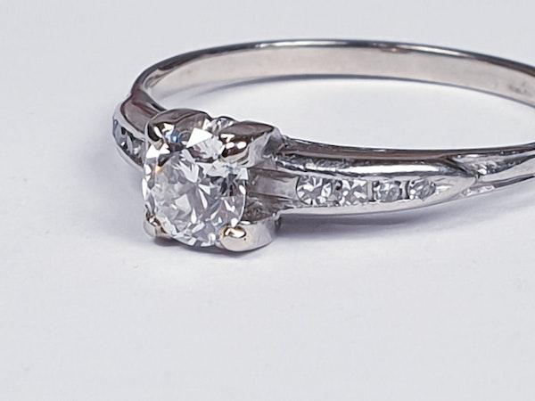 Transitional Diamond Art Deco Engagement Ring 1666  DBGEMS - image 4