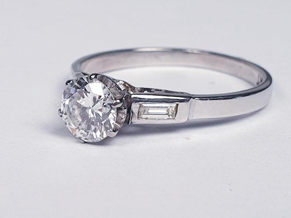 Art Deco Diamond Engagement Ring 3400  DBGEMS - image 2