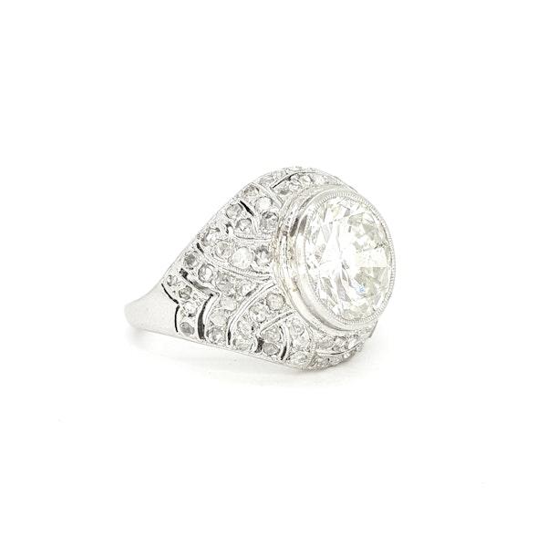French Art Deco Diamond Ring - image 2