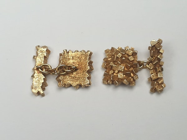 1960's Pair of 18ct gold cufflinks  DBGEMS - image 2