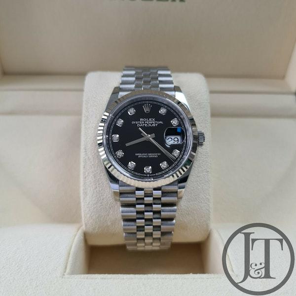 Rolex Datejust 36 126234 Black Diamond Dial Jubilee - image 1