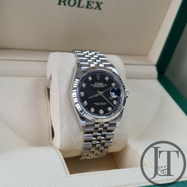 Rolex Datejust 36 126234 Black Diamond Dial Jubilee - image 2
