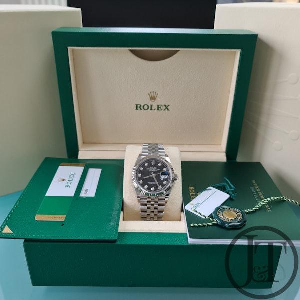 Rolex Datejust 36 126234 Black Diamond Dial Jubilee - image 4