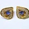 Cabochon Sapphire and Diamond Earrings DBGEMS - image 2