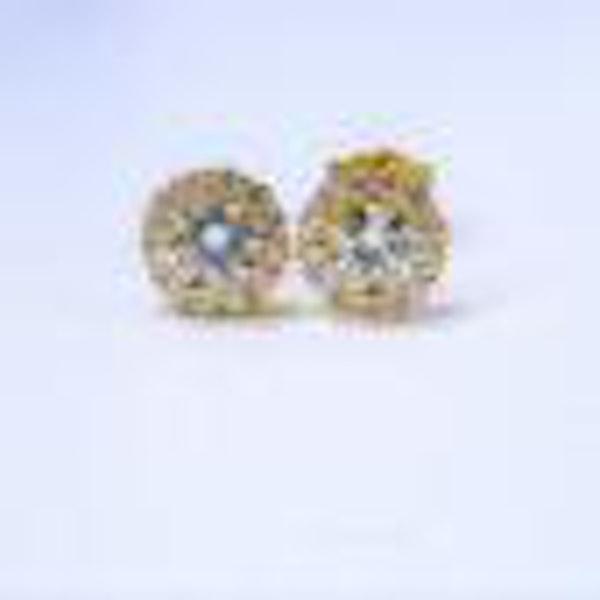 Diamond Cluster Earrings  DBGEMS - image 2
