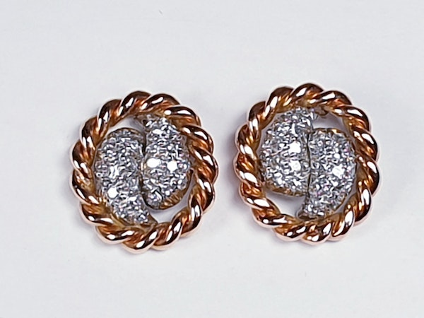 Diamond and Rose Gold Earrings  DBGEMS - image 2