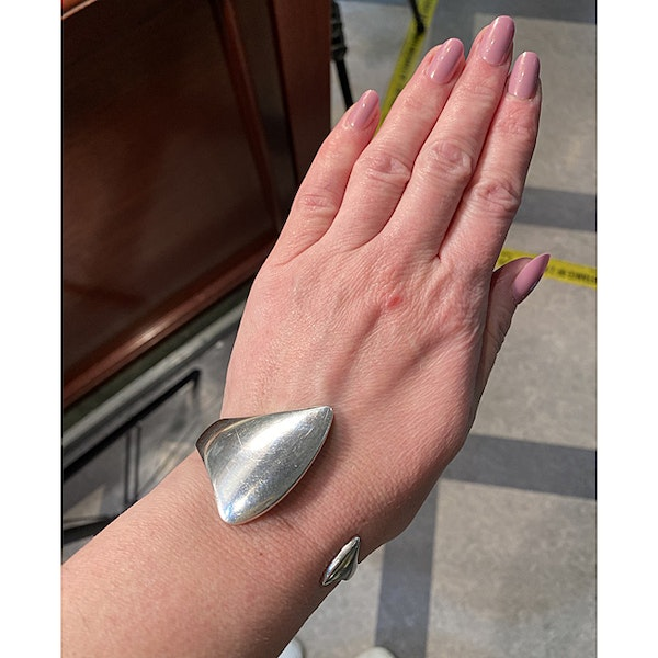 Date: circa 2000, Georg Jensen Silver Bangle, SHAPIRO & Co since1979 - image 2