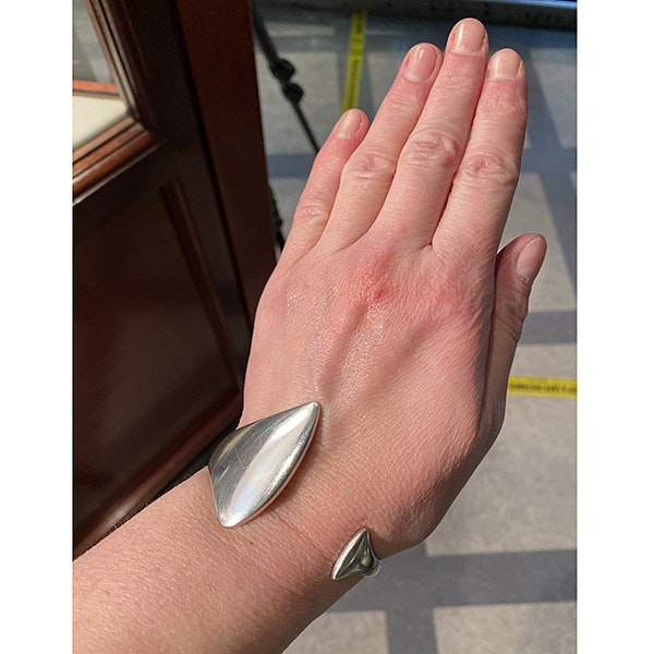Date: circa 2000, Georg Jensen Silver Bangle, SHAPIRO & Co since1979 - image 3