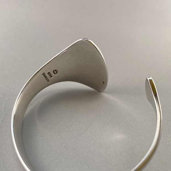 Date: circa 2000, Georg Jensen Silver Bangle, SHAPIRO & Co since1979 - image 4