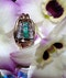 Retro Emerald and Diamond Ring - image 1