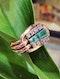 Retro Emerald and Diamond Ring - image 3