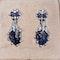 Vintage sapphire and diamond drop earrings  DBGEMS - image 2
