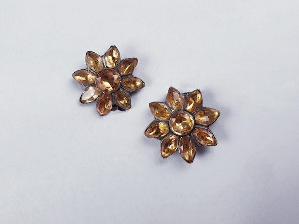 Golden topaz cluster earrings  DBGEMS - image 2