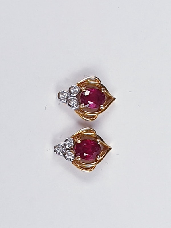 Ruby and Diamond Earrings  DBGEMS - image 2