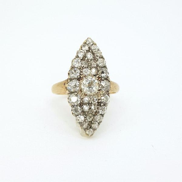 Edwardian diamond ring - image 2