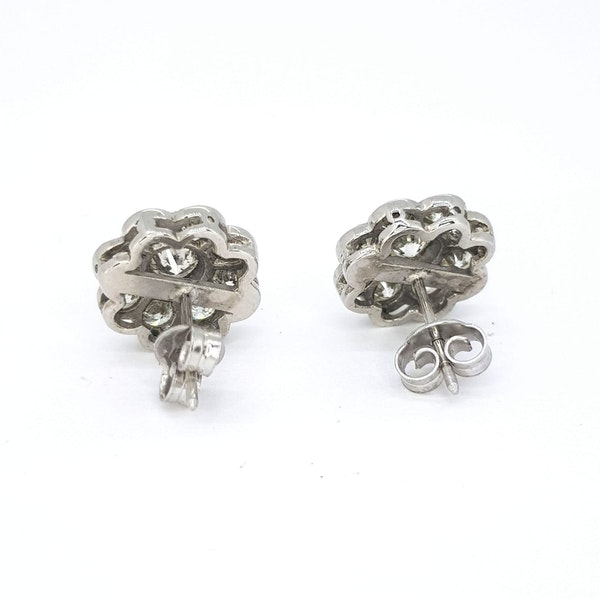 Diamond Daisy Cluster earrings - image 3