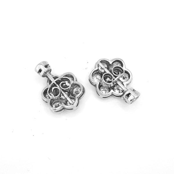 Diamond Daisy drop earrings - image 3