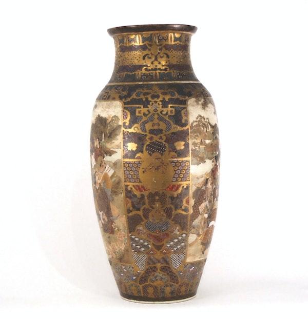 Japanese Satsuma vase with decoration of Samurai - image 8