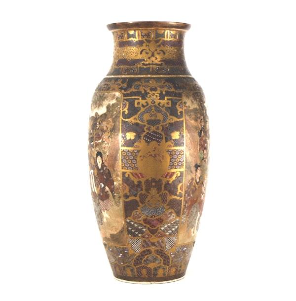 Japanese Satsuma vase with decoration of Samurai - image 9
