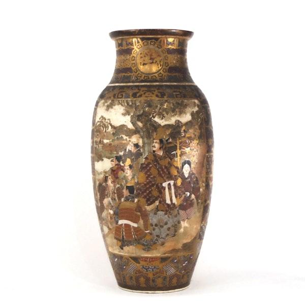 Japanese Satsuma vase with decoration of Samurai - image 10