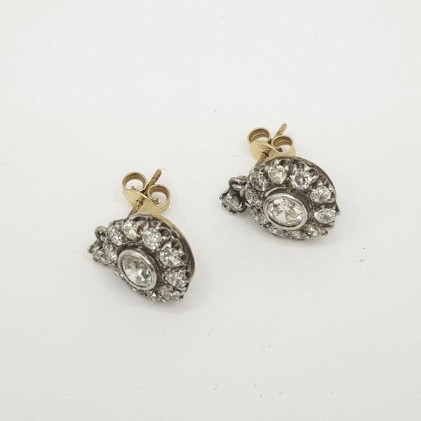 Diamond drop cluster earrings - image 2