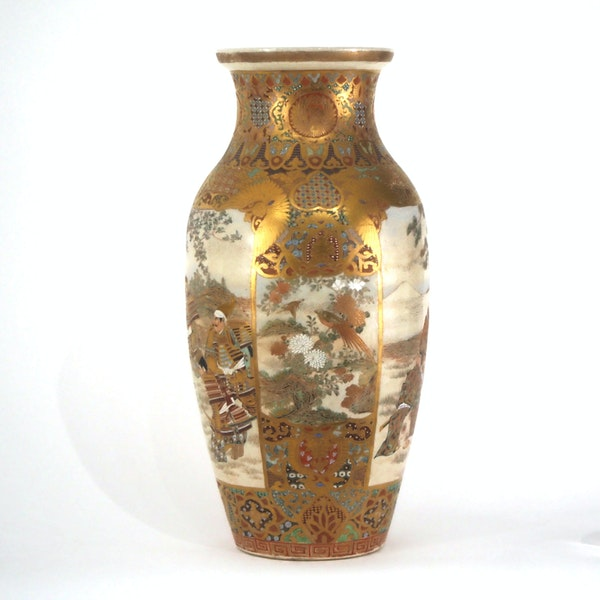 Japanese Satsuma vases with Samurai decoration - image 8