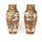 Pair Japanese Satsuma vases with decoration of wealthy figures - image 10