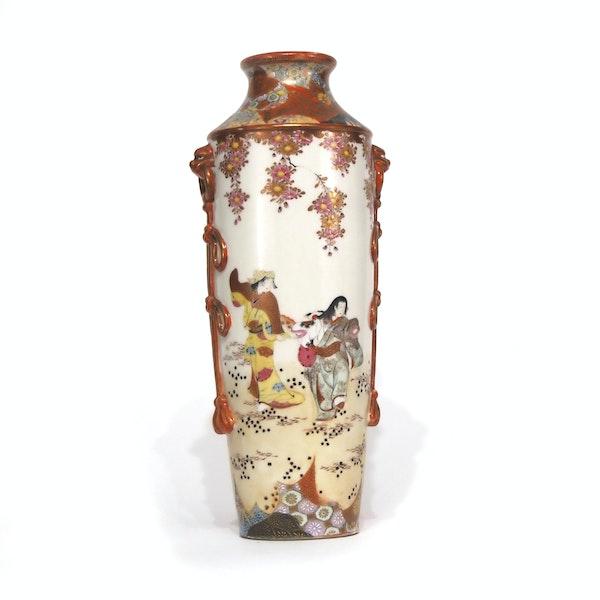 Japanese Kutani vase with dancing girls - image 4