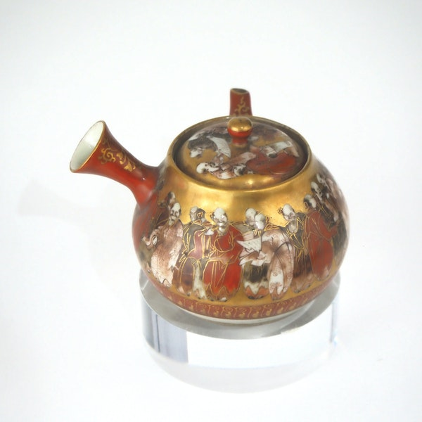 Japanese kutani teapot 19C - image 5