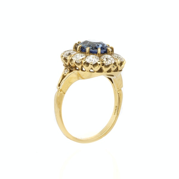 Sapphire & diamond Victorian engagement ring. Spectrum antiques - image 2
