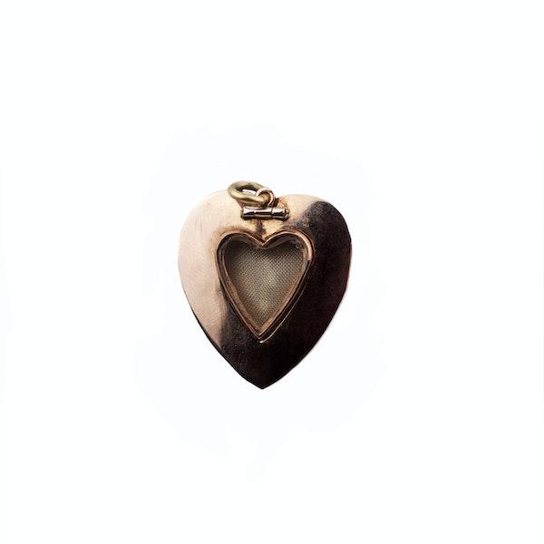 Georgian garnet diamond & pearl heart pendant. Spectrum Antiques - image 2