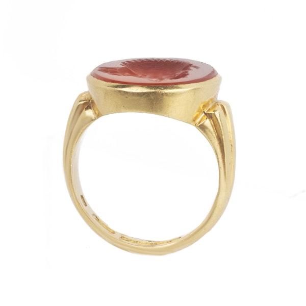 Carved carnelian large signet ring Spectrum Antiques - image 2
