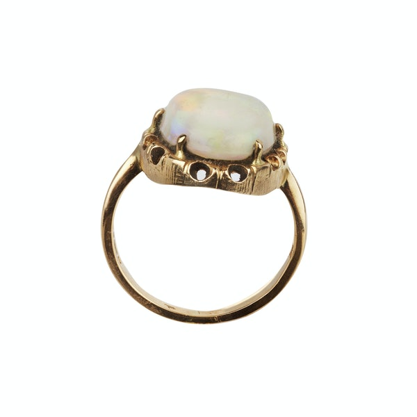 Extra large cabochon opal ring. Spectrum Antiques - image 2