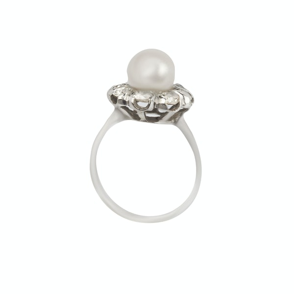 Diamond and pearl cocktail ring. Spectrum Antiques - image 2