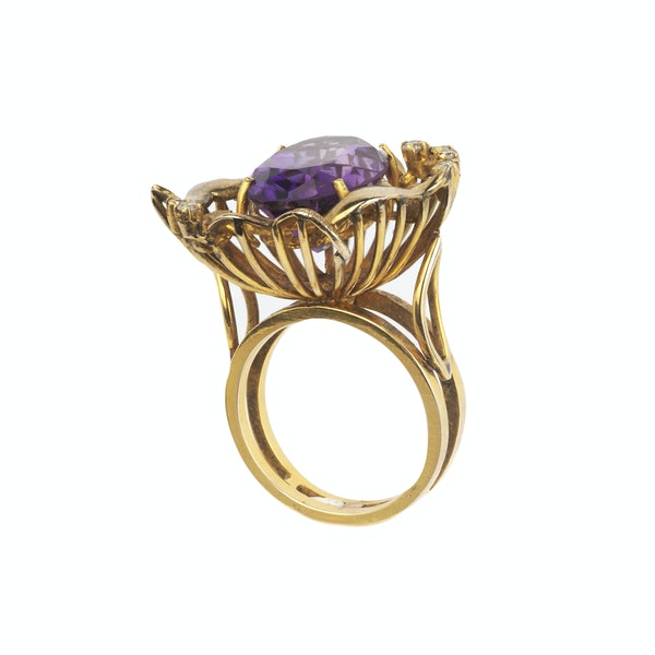 Amethyst and diamond cocktail ring. Spectrum - image 2