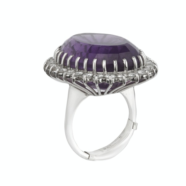 Amethyst and diamond large cocktail ring. Spectrum - image 2