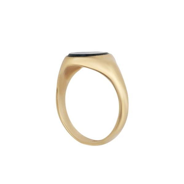Bloodstone set gold signet ring. Spectrum - image 2