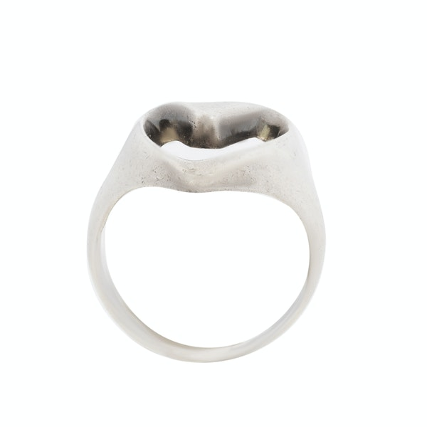 Georg Jensen silver abstract heart ring. Spectrum Antiques - image 2