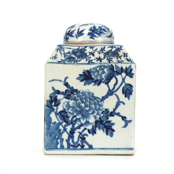 Pair Chinese blue and white tea jars - image 7