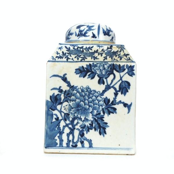 Pair Chinese blue and white tea jars - image 9