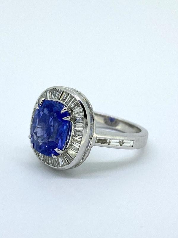 Ceylon Sapphire and Diamond Ring - image 3