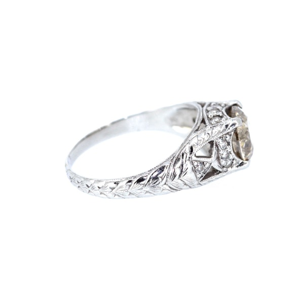 Old Cut Cognac Diamond Solitaire Ring. S.Greenstein - image 4