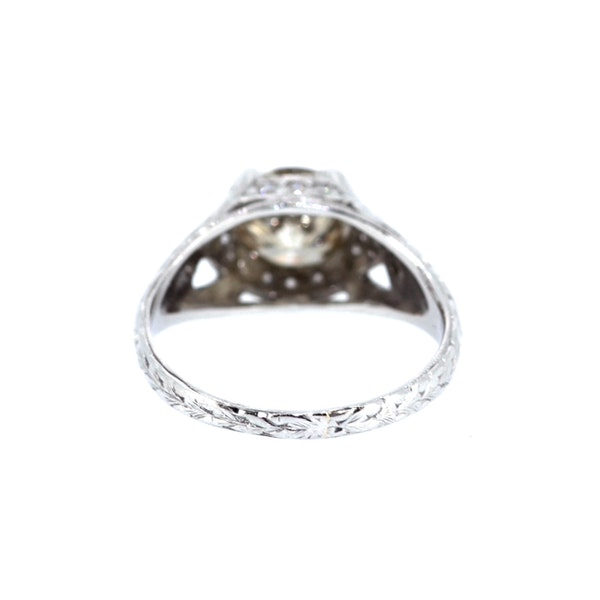 Old Cut Cognac Diamond Solitaire Ring. S.Greenstein - image 3