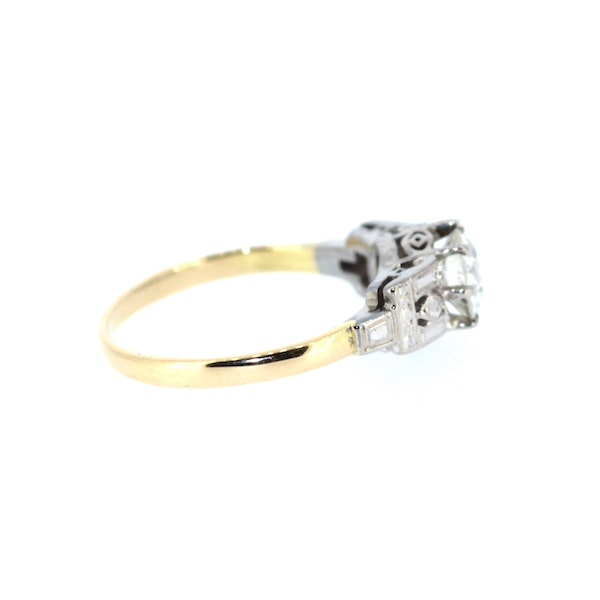 1.3ct Old Cut Solitaire Ring. S.Greenstein - image 4